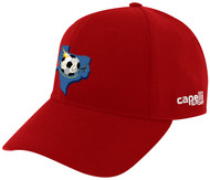 SOCCER CENTRO CS II TEAM BASEBALL CAP RED WHITE