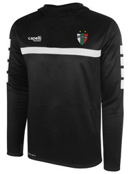 PALESTINO SPARROW HOODED TRAINING TOP BLACK WHITE