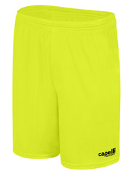 ROCKPORT FUTSAL CS ONE PIQUE GOALKEEPER SHORTS NEON YELLOW BLACK