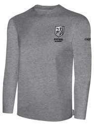 ROCKPORT FUTSAL BASICS LONG SLEEVE T-SHIRT LIGHT HEATHER GREY