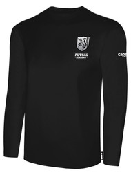 ROCKPORT FUTSAL BASICS LONG SLEEVE T-SHIRT BLACK WHITE