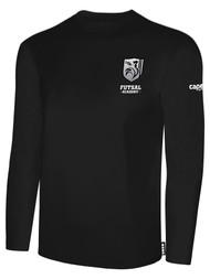 ROCKPORT FUTSAL BASICS LONG SLEEVE T-SHIRT BLACK WHITE