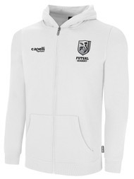 ROCKPORT FUTSAL BASICS FULL ZIP HOODIE WHITE BLACK