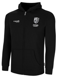 ROCKPORT FUTSAL BASICS FULL ZIP HOODIE BLACK WHITE