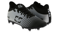 ROCKPORT FUTSAL FUSION YOUTH FIRM GROUND SOCCER CLEATS BLACK/SILVER