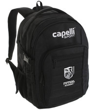 "ROCKPORT FUTSAL BACKPACK 18""h x 13""w x 9.5""d BLACK/WHITE"