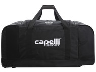 "ROCKPORT FUTSAL WHEELED DUFFLE BAG 32.5""L x 17.5""W x 16""H BLACK/WHITE"