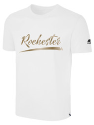 ROCHESTER JUNIOR RHINOS BASIC TEE -- WHITE  ($14-$16)