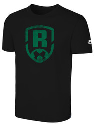 ROCHESTER JUNIOR RHINOS BASIC TEE -- BLACK ($14-$16), SIZE AXL ON BACK ORDER WILL SHIP 12/25-12/30