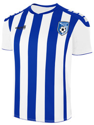 MILLSTONE UNITED CONDOR II STRIPE JERSEY --  WHITE ROYAL BLUE
