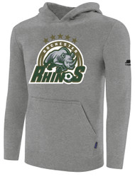 ROCHESTER JUNIOR RHINOS BASIC HOODIE -- LIGHT HEATHER GREY  ($25-$30)