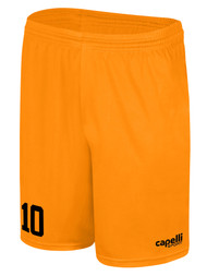 MILLSTONE UNITED CS ONE GOALKEEPER SHORTS --  NEON ORANGE BLACK