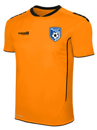 MILLSTONE UNITED SPARROW II GOALKEEPER SHORT SLEEVE JERSEY --  NEON ORANGE BLACK