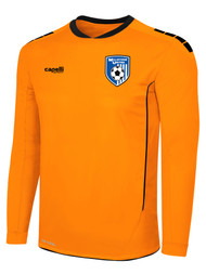 MILLSTONE UNITED SPARROW II GOALKEEPER LONG SLEEVE JERSEY WITH PADDING --  NEON ORANGE BLACK
