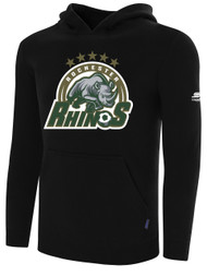 ROCHESTER JUNIOR RHINOS BASIC HOODIE -- BLACK  ($25-$30)  --  AXL, AXXL ARE ON BACK ORDER, WILL SHIP BY 12/20
