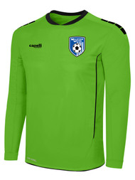 MILLSTONE UNITED SPARROW II GOALKEEPER LONG SLEEVE JERSEY WITH PADDING --  POWER GREEN BLACK
