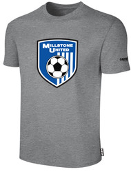 MILLSTONE UNITED SHORT SLEEVE COTTON T-SHIRT --  LIGHT HEATHER GREY