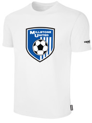 MILLSTONE UNITED SHORT SLEEVE COTTON T-SHIRT -- WHITE