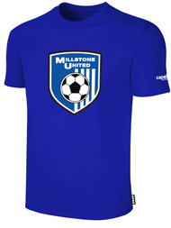 MILLSTONE UNITED SHORT SLEEVE COTTON T-SHIRT -- ROYAL BLUE WHITE