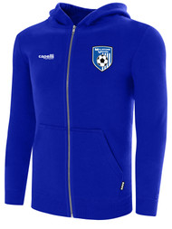 MILLSTONE UNITED BASICS ZIP UP HOODIE  -- ROYAL BLUE WHITE