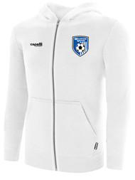 MILLSTONE UNITED BASICS ZIP UP HOODIE  -- WHITE BLACK