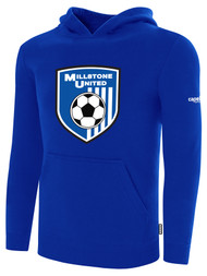 MILLSTONE UNITED BASICS HOODED SWEATSHIRT --  ROYAL BLUE WHITE