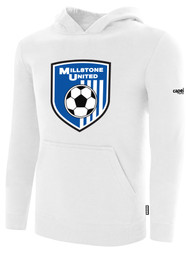 MILLSTONE UNITED BASICS HOODED SWEATSHIRT --   WHITE BLACK