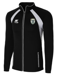 ROCHESTER JUNIOR RHINOS  RAVEN TRAINING JACKET -- BLACK WHITE