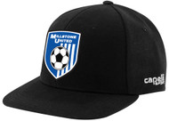MILLSTONE UNITED CS II TEAM FLAT BRIM CAP  -- BLACK WHITE