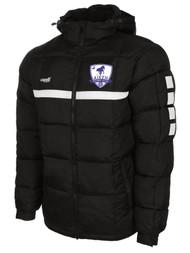 AIKEN FC  SPARROW WINTER JACKET  --   BLACK WHITE