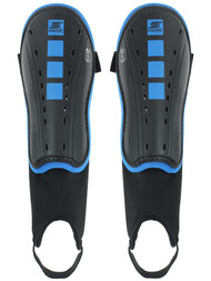 AIKEN FC 4 CUBE SHIN GUARD WITH STRAP AND ANKLE PROTECTION --BLACK ROYAL BLUE