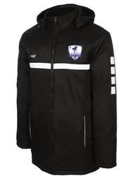 AIKEN FC SPARROW STADIUM COAT --   BLACK WHITE