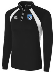 MILLSTONE UNITED YOUTH 1/4 ZIP TRAINING TOP --  BLACK WHITE