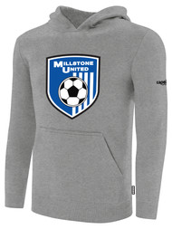 MILLSTONE UNITED BASICS HOODED SWEATSHIRT --  LIGHT HEATHER GREY