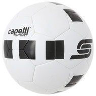 CS 4  CUBE MACHINE STITCHED SOCCER BALL--WHITE BLACK