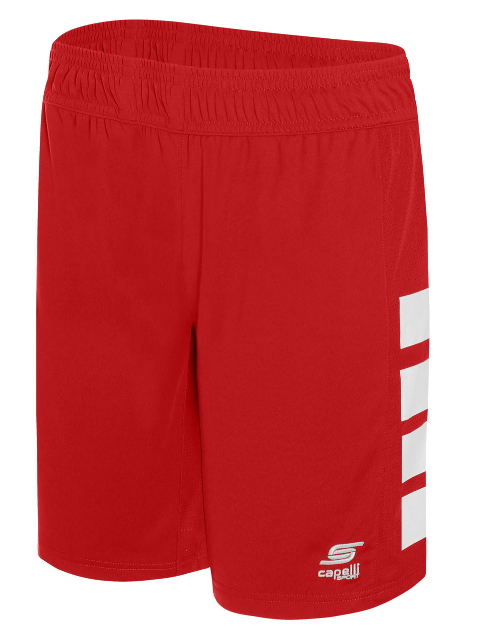 382429879f93 ... PAL CAPELLI SPORT UPTOWN BASKETBALL SHORTS -- RED WHITE ( 12 -  13.5).  Image 1