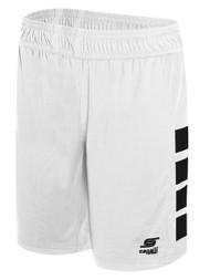 56e32c89049b PAL CAPELLI SPORT UPTOWN BASKETBALL SHORTS -- WHITE BLACK ( 12 -  13.5)