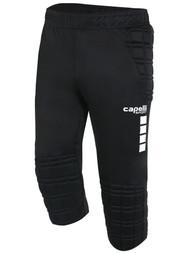 AIKEN FC CAPELLI SPORT 3/4 GOALIE PANTS  --   BLACK WHITE
