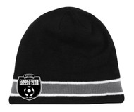 CS ADULT KNIT BEANIE -- BLACK GREY   WHITE