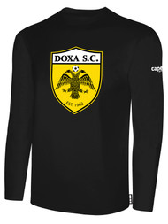 DOXA SC COTTON LONG SLEEVES T-SHIRT  -- BLACK WHITE  $16 - $18