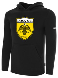 DOXA SC FLEECE PULLOVER HOODIE -- BLACK WHITE $40 - $45