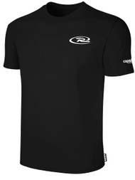 RUSH CONNECTICUT CENTRAL SHORT SLEEVE TEE SHIRT -- BLACK