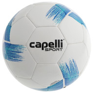 SMITHTOWN SLAMMERS TRIBECA STRIKE TEAM, MACHINE STICHED SOCCER BALL PROMO BLUE TURQUOISE