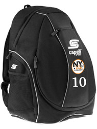 NY STARS PREMIER TRAVEL UTILITY BACK PACK  --  BLACK WHITE