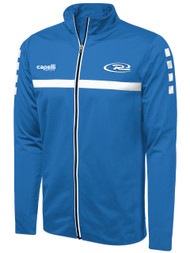 RUSH WISCONSIN SPARROW  TRAINING FULL ZIP JACKET -- BLUE WHITE  --  AL IS ON BACK ORDER, WILL SHIP BY 7/21