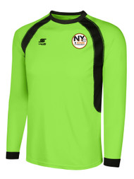 NY STARS PREMIER LONG SLEEVE BASIC GOALIE JERSEY -- BRIGHT GREEN