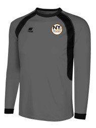 NY STARS PREMIER LONG SLEEVE BASIC GOALIE JERSEY -- DARK GREY