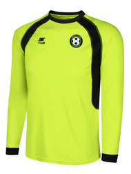 CORNWALL UNITED RAVEN LONG SLEEVE GOALIE JERSEY $30.5 - $34  -- LIME