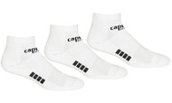 RUSH CONNECTICUT SHORELINE CAPELLI SPORT 3 PACK LOW CUT SOCKS-- WHITE