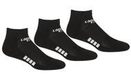 RUSH CONNECTICUT SHORELINE CAPELLI SPORT 3 PACK LOW CUT SOCKS -- BLACK